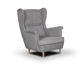 Fotelis Bellezza Elite, pilkas kaina ir informacija | Svetainės foteliai | pigu.lt
