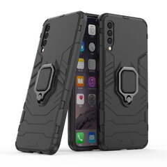 TakeMe Armor back cover case with stand / finger ring / magnet element for car holder for Samsung Galaxy A50 (A505F) / A30 (A305F) Black kaina ir informacija | Telefono dėklai | pigu.lt