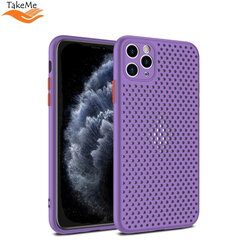 "TakeMe ""Breathing dotted"" TPU back cover case for Apple iPhone X / Xs Violet kaina ir informacija 