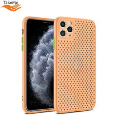 "TakeMe ""Breathing dotted"" TPU back cover case for Apple iPhone X / Xs Peach kaina ir informacija 