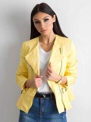 Švarkelis moterims, geltonas kaina ir informacija | Moteriški švarkeliai | pigu.lt