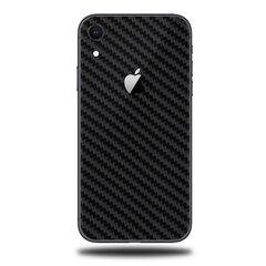 Korpuso apsauginė plėvelė- skin, iPhone XR, Carbon black, Full Wrap Back kaina ir informacija | Telefono dėklai | pigu.lt