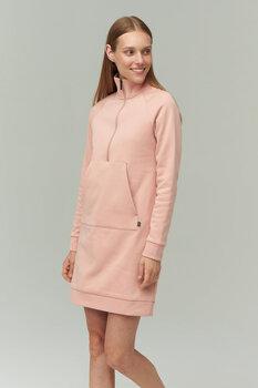 Medvilninė suknelė švelniu vidumi moterims, rožinė kaina ir informacija | Suknelės | pigu.lt