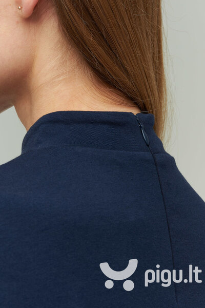 Švelnaus modalo suknelė moterims, mėlyna