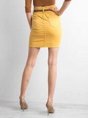 Sijonas moterims, geltonas kaina ir informacija | Sijonai | pigu.lt