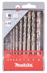 Grąžtų komplektas Makita D-57205, 10 vnt цена и информация | Механические инструменты | pigu.lt