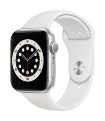 Išmanusis laikrodis Apple Watch Series 6 (GPS, 44 mm) - Silver Aluminum Case with White Sport Band kaina ir informacija | Išmanusis laikrodis Apple Watch Series 6 (GPS, 44 mm) - Silver Aluminum Case with White Sport Band | pigu.lt