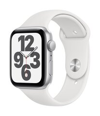 Išmanusis laikrodis Apple Watch SE (GPS, 44 mm) - Silver Aluminum Case with White Sport Band kaina ir informacija | Išmanusis laikrodis Apple Watch SE (GPS, 44 mm) - Silver Aluminum Case with White Sport Band | pigu.lt
