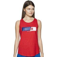 Marškinėliai moterims 4F, raudoni kaina ir informacija | Marškinėliai moterims | pigu.lt
