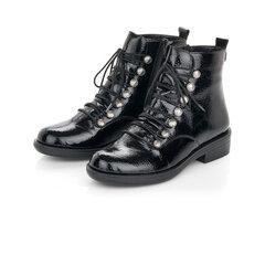 Lakuoti aulinukai moterims Remonte, juodi kaina ir informacija | Aulinukai, ilgaauliai batai moterims | pigu.lt