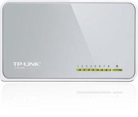 Tinklo komutatorius TP-LINK TL-SF1008D (8 x 10/100Mbps) kaina ir informacija | Komutatoriai (Switch) | pigu.lt