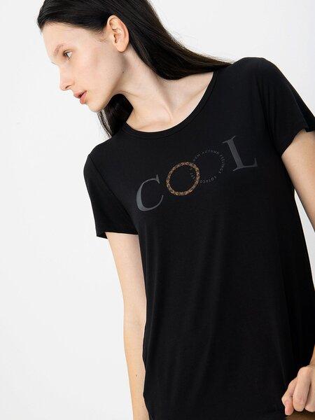 Marškinėliai moterims, juodi kaina