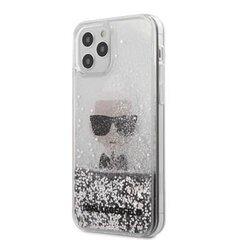 Karl Lagerfeld dėklas, skirtas iPhone 12/12 Pro Liquid Glitter Iconic Cover Silver kaina ir informacija | Karl Lagerfeld dėklas, skirtas iPhone 12/12 Pro Liquid Glitter Iconic Cover Silver | pigu.lt