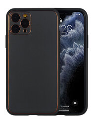 Dėklas Gold Line Apple iPhone X/XS juodas kaina ir informacija | Telefono dėklai | pigu.lt