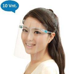 Apsauginis veido skydas akinių rėmelyje, 10 vnt. kaina ir informacija | Apsauginis veido skydas akinių rėmelyje, 10 vnt. | pigu.lt