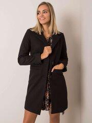 Paltas moterims, juodas kaina ir informacija | Paltai moterims | pigu.lt