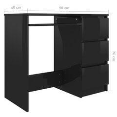 Rašomasis stalas, 90x45x76cm, juodas kaina ir informacija | Kompiuteriniai, rašomieji stalai | pigu.lt