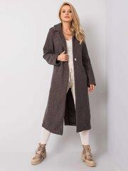 Paltas moterims, rudas kaina ir informacija | Paltai moterims | pigu.lt