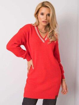 Megztinis moterims, raudonas kaina ir informacija | Megztinis moterims, raudonas | pigu.lt