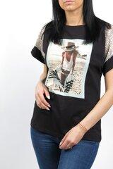 Marškinėliai BLUOLTRE kaina ir informacija | Marškinėliai moterims | pigu.lt
