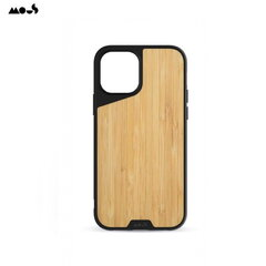 Mous Air-Shock Extreeme Protection Back Cover Case for iPhone 12 / 12 Pro with real Bamboo element kaina ir informacija | Telefono dėklai | pigu.lt