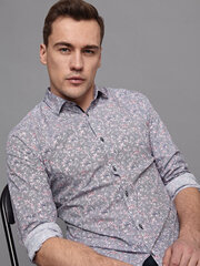 Marškiniai vyrams Monton regular-fit, mėlyni kaina ir informacija | Vyriški marškiniai | pigu.lt
