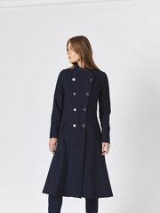 Paltas moterims Monton, mėlynas kaina ir informacija | Paltai moterims | pigu.lt
