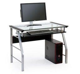 Kompiuterinis stalas B-18, juodas/pilkas kaina ir informacija | Kompiuteriniai, rašomieji stalai | pigu.lt