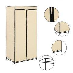 Drabužių spinta, 75x50x160cm, rusva kaina ir informacija | Spintos | pigu.lt
