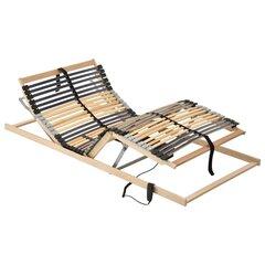 Elektrinės grotelės lovai su 42 lentjuostėmis, 100x200 cm, rudos kaina ir informacija | Lovų grotelės | pigu.lt
