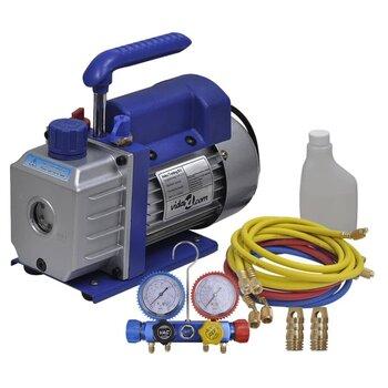 Vakuumo siurblys su 4 krypčių kolektoriaus matuoklių rinkiniu kaina ir informacija | Kondicionieriai, šilumos siurbliai, rekuperatoriai | pigu.lt