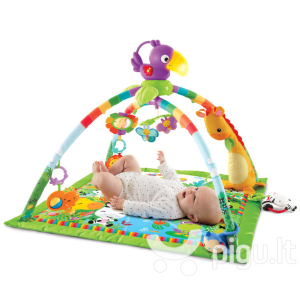 Lavinamasis kilimėlis Fisher Price Rainforest Melodies & Lights Deluxe kaina