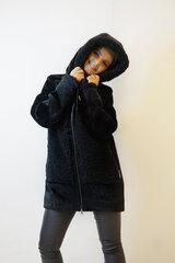 Puskailiniai moterims, juodi kaina ir informacija | Paltai moterims | pigu.lt