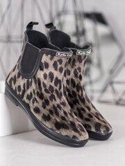 Guminiai batai moterims, pilki, juodi kaina ir informacija | Guminiai batai moterims, pilki, juodi | pigu.lt