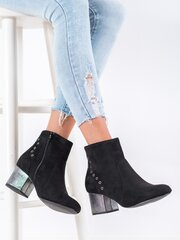 Aulinukai moterims POL68121, juodi kaina ir informacija | Aulinukai, ilgaauliai batai moterims | pigu.lt