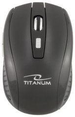Bevielė optinė pelė Titanum 6D TM105K SNAPPER |2.4 GHz|1600 DPI|Juoda
