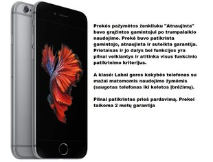 Apple iPhone 6s Atnaujintas, 32GB, Space Grey kaina ir informacija | Apple iPhone 6s Atnaujintas, 32GB, Space Grey | pigu.lt