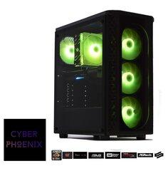 Cyber Phoenix PRO Gaming Žaidimų kompiuteris Ryzen 5 3600XT / 16GB RAM / RX5600XT 6GB / 512GB NVMe + 2TB HDD / DOS kaina ir informacija | Stacionarūs kompiuteriai | pigu.lt