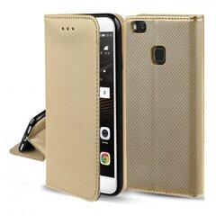 Hallo Smart Magnet Book Case Knygų telefono dėklas Samsung A415 Galaxy A41 Auksas kaina ir informacija | Telefono dėklai | pigu.lt