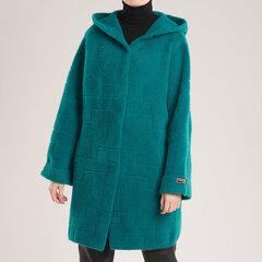 Vidutinio ilgio megztinis, žalias kaina ir informacija | Megztiniai moterims | pigu.lt
