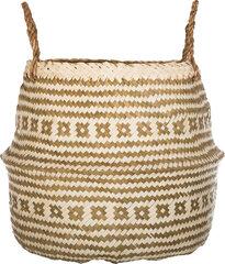 Pintas krepšys, bambukas, baltas, 35x35x30cm kaina ir informacija   Vazos   pigu.lt