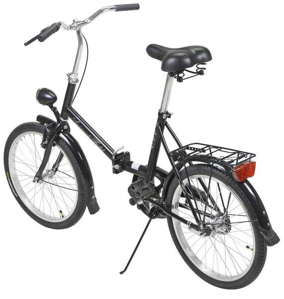 "Sulankstomas dviratis AZIMUT Fold 20"" 2021, juoda internetu"