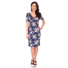 Mėlyna suknelė su grindele VSGMM01 kaina ir informacija | Mėlyna suknelė su grindele VSGMM01 | pigu.lt