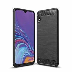 TakeMe Carbon Effect TPU Super Thin Back Cover Case, skirtas Samsung Galaxy A32 (A326), juodas kaina ir informacija | Telefono dėklai | pigu.lt