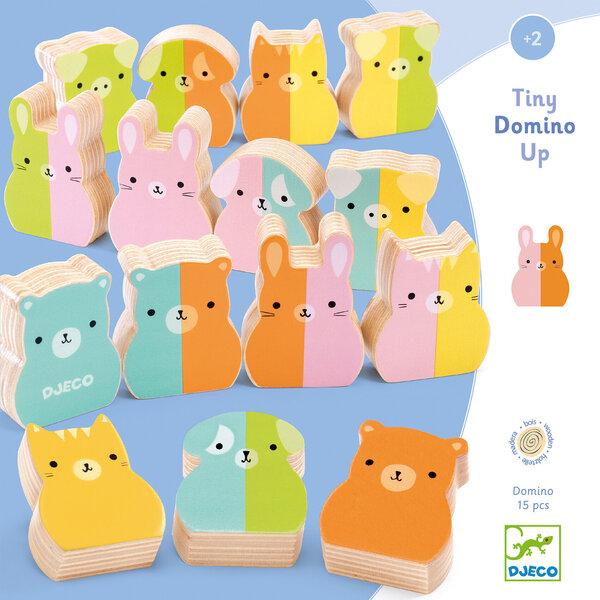 Mokomasis medinis žaidimas - Domino su gyvūnais Djeco, DJ01675 kaina ir informacija | Žaislai kūdikiams | pigu.lt