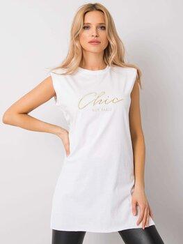 Marškinėliai moterims Chic Rue Paris, balti kaina ir informacija | Marškinėliai moterims | pigu.lt