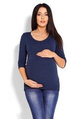 Megztinis moterims PeeKaBoo 123422, mėlynas kaina ir informacija | Megztiniai moterims | pigu.lt