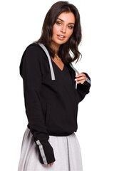 Džemperis moterims BE 134557, juodas kaina ir informacija | Džemperiai moterims | pigu.lt