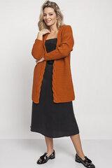 Kardiganas moterims MKM 139021, oranžinis kaina ir informacija | Megztiniai moterims | pigu.lt