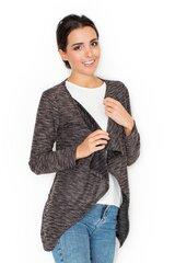Kardiganas moterims Katrus 46870, rudas kaina ir informacija | Megztiniai moterims | pigu.lt